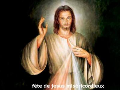 La fête de Jesus miséricordieux