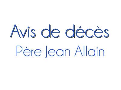 Décès du Père Jean Allain
