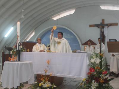 Célébration de la messe de Paques 2018