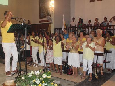 Célébration de la Vigile Pacale 2016 a Ste Clotilde